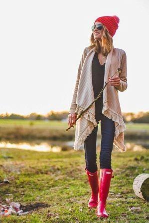 赤いレインブーツにはデニムがお似合い♡かわいいレインシューズのコーデ☆スタイル・ファッションの参考に♡