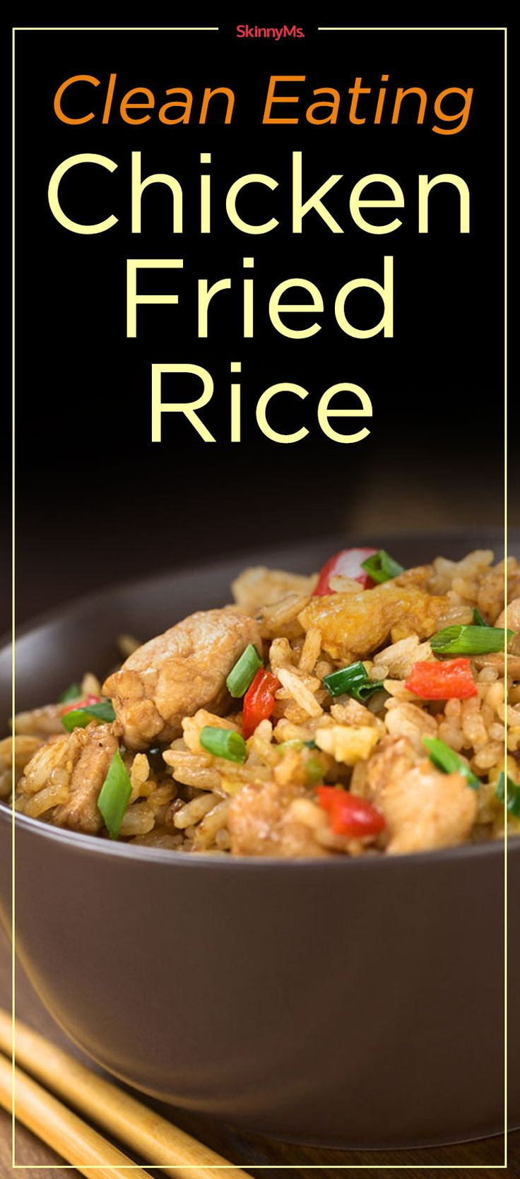 Clean Eating Chicken Fried Rice #cleaneating #takeoutfakeout #healthyrecipe
