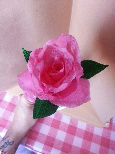 Carta crespa rosa