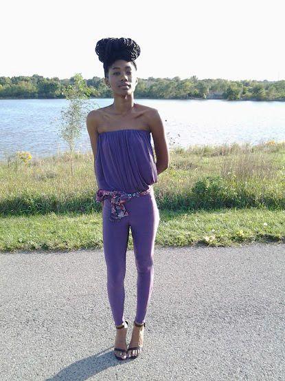 Tube Top Jersey Jumpsuit by AFIELDA   Luevo.com  Elda Doamekpo  #AFIELDA Design label. Spring Summer '15 as shown on the Kansas City Fashion Week Runway. Pre-order it now exclusively at Luevo.com  #fashion #style #kcfw #ootd #fashionweek #runway #outfit #KansasCity #designer #runway #exclusive  #shoptherunway #fashiondesigner #seventeen #designer #ss15 #springsummer15 #Luevo