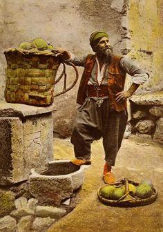 Osmanlı kavun satıcısı