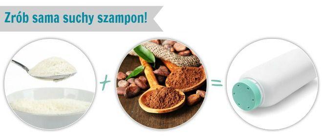 Suchy szampon własnej produkcji / dry shampoo DIY