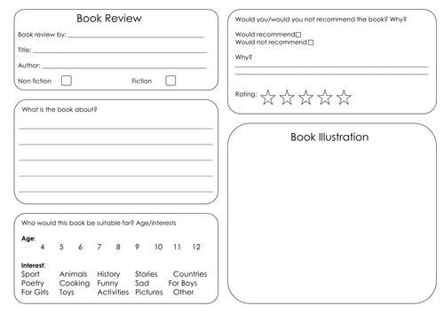 Best 25+ Book Review Template Ks2 Ideas On Pinterest | Enrichment