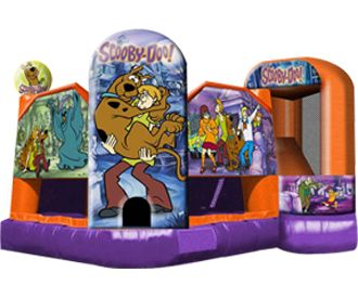 Scooby Doo 5-n-1 Inflatable Bounce House Combo (Slide, Climb, Jump, Shoot Basketballs, Crawl Obstacles) - Perfect for a Scooby Doo Party!!!