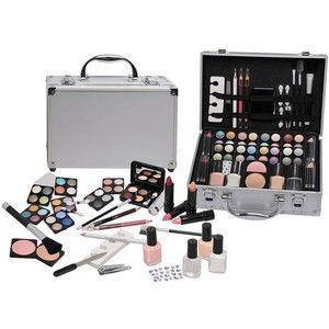 Gezien op beslist.nl: Merkloos Make-up alu-design koffer French manicure 57-delig