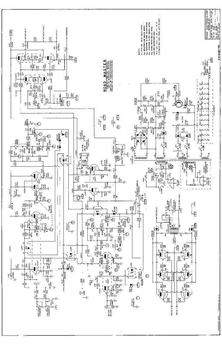 PEAVEY ELECTRONICS ROADMASTER TUBE AMPLIFEIER 1983 SCH
