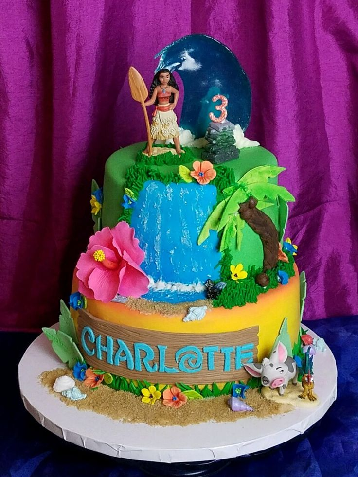 Moana Happy Rd Birthday Cake