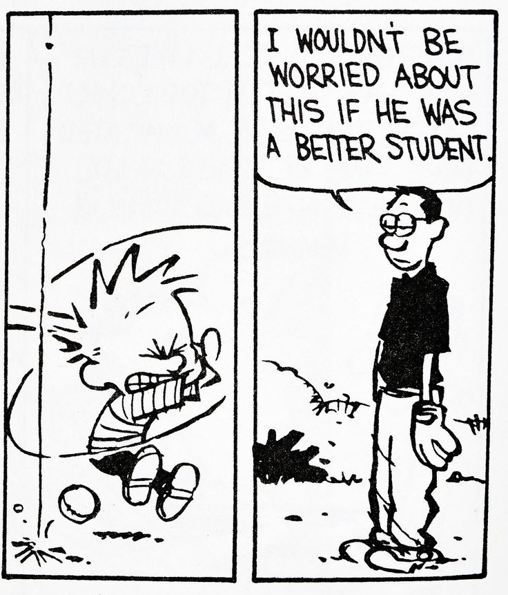 Calvin and Hobbes, DE's CLASSIC PICK of the day (7-30-14)  I wouldn't be worried about this if he was a better student.
