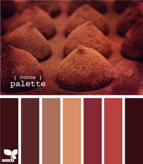 Cocoa Palette: Chocolates and cream colour / color palette inspiration.