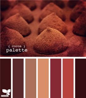 Cocoa Palette: Chocolates and cream colour / color palette inspiration.