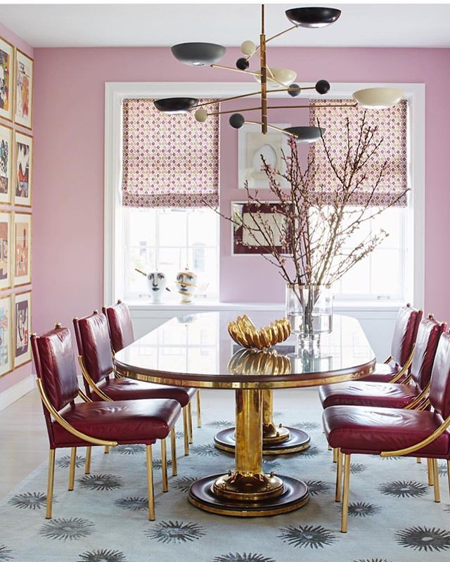 17 best images about interior design dining room on for Pink dining room ideas