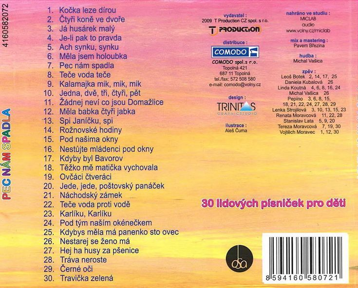 CD AUDIO | Dětské písničky | Pec nám spadla - CD | Hvězda