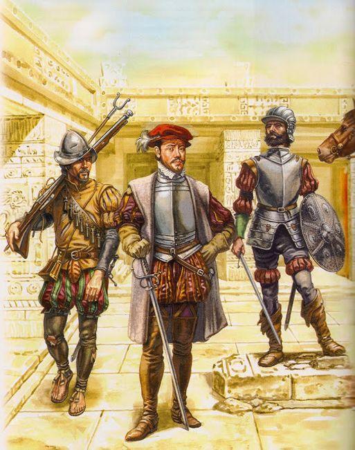 """La Pintura y la Guerra """"Hombres de Cortés en el palacio de Axayacatl, su residencia en Tenochtitlan"""""""