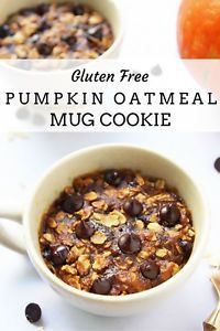 This amazing recipe is for one single serving of an oatmeal chocolate chip cookie that is made in the microwave. It is gluten free, vegan and uses no refined sugar. Fitting for the season it is pumpkin...