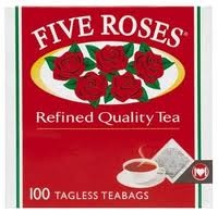 "For over 100 years, Five Roses has been artfully blended from a unique recipe, providing a tea with a distinctive touch of quality, which is why Five Roses Tea is South Africa's top-selling tea.    Five Roses is a superior blend Ceylon tea that South Africans have ""come to love and trust."""