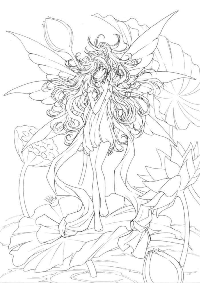 - Fancy Fairy Coloring Pages For Adults In 2020 Fairy Coloring Pages, Fairy  Coloring, Coloring Pages