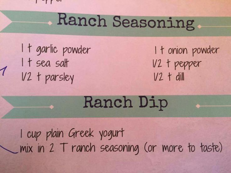 Ranch dressing ... 21 day fix
