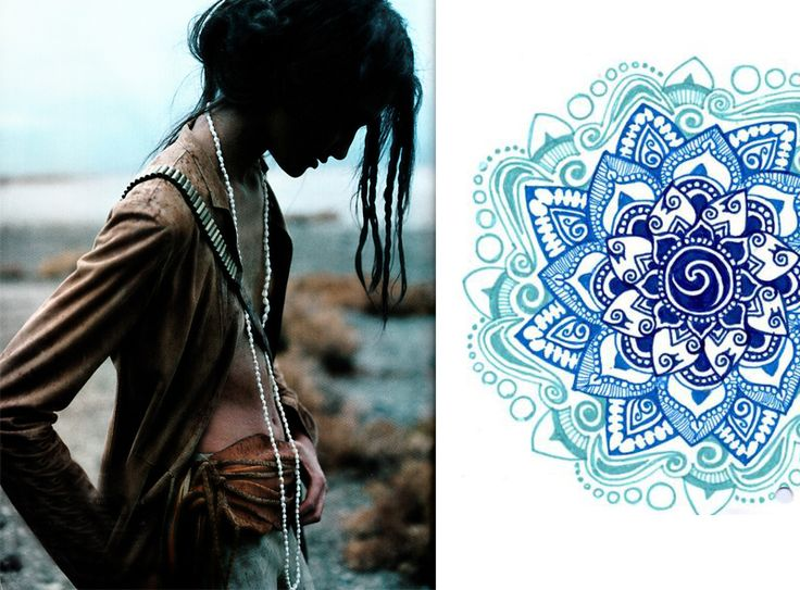 : Boob, Ss Lookbook, S S Lookbook, Gypsy Collection, Tattoo'S Inspiration, Blue Beads, Beauty Floral, Henna Patern, Beauty Ornaments