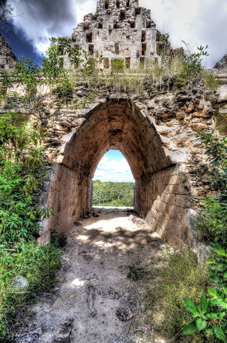 Jungle Corridor - The Dovecote, Uxmal, Yucatan, Mexico