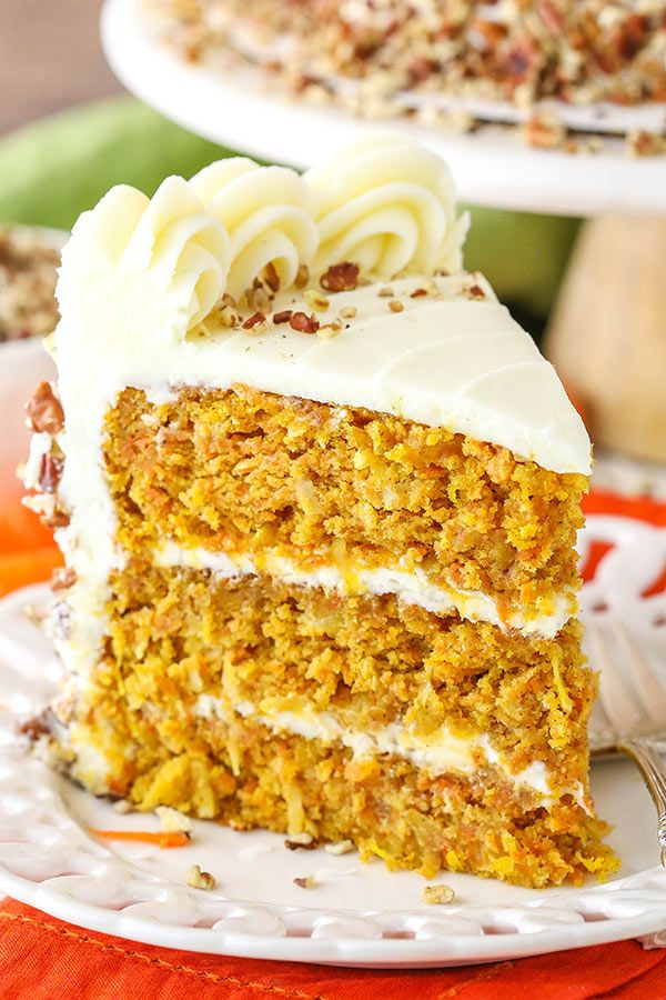 This Easy Carrot Cake Has The Best Homemade Cream Cheese Frosting Recipe Best Carrot Cake Carrot Cake Recipe Carrot Cake Recipe Easy