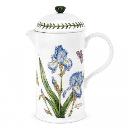 Portmeirion Botanic Garden Cafetiere Coffee Pot Iris - Botanic Garden -Portmeirion UK