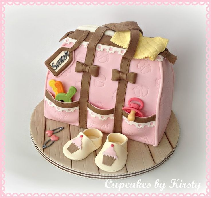 Baby Shower Bag Cake  by kirstywoo