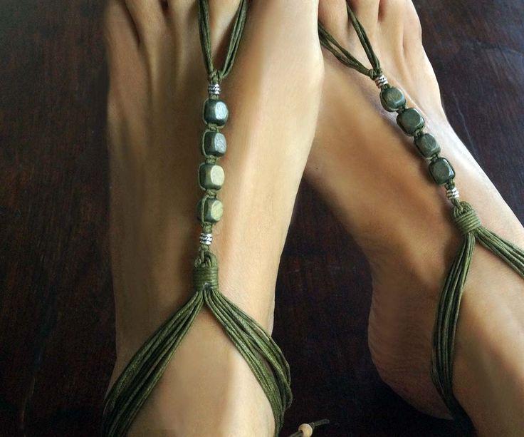 Camuflaje verdes sandalias tribales de pies descalzos, Boho joyería, joyería de playa, joyas surfista, hombres y mujer sandalias Descalzas, 1 par de M0MITA en Etsy https://www.etsy.com/mx/listing/202019183/camuflaje-verdes-sandalias-tribales-de