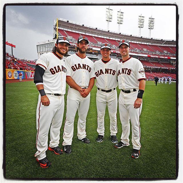 2015 SF Giants All-Stars Brandon Crawford, Madison Bumgarner, Joe Panik, and Buster Posey.
