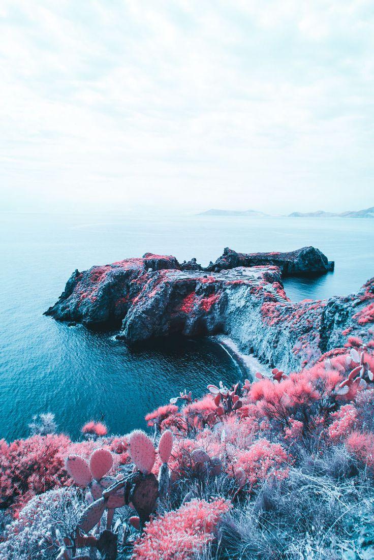 Italienischer Fotograf macht charmante bonbonfarbene Infrarotfotos, um eine neue …