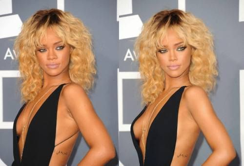 Photoshopped Before And After : Rihanna