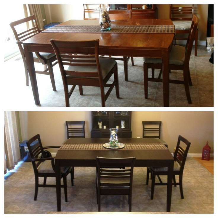 How To Refinish Real Laminate Wood For I Did A 9 Piece Dining Refinished Furniturefurniture Makeoverfurniture