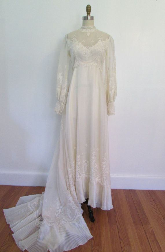 1960s wedding dress // vintage 60s wedding dress // bridal ...