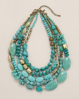 Chico's Skye Multi-Strand Necklace #chicos - you know I think I could actually make this!
