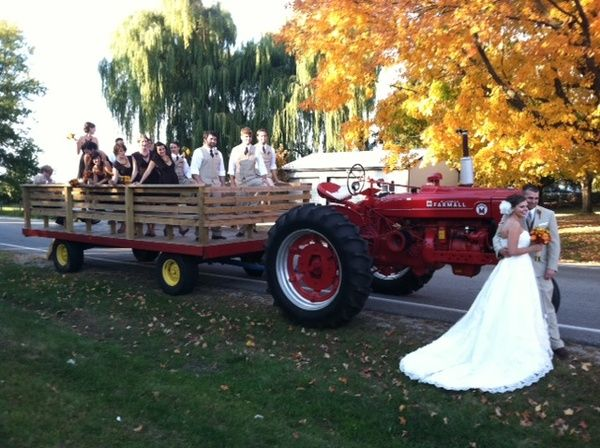 Wedding Party Transportation For Rustic