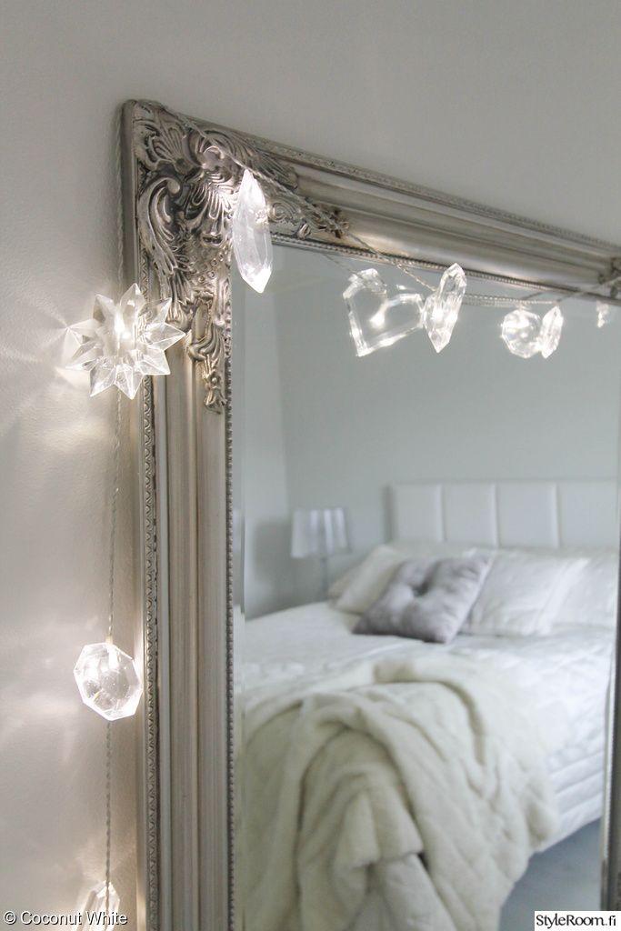 joulu,inspiroiva joulukoti,valkoinen,valkoinen sisustus,makuuhuone,makuuhuoneen sisustus