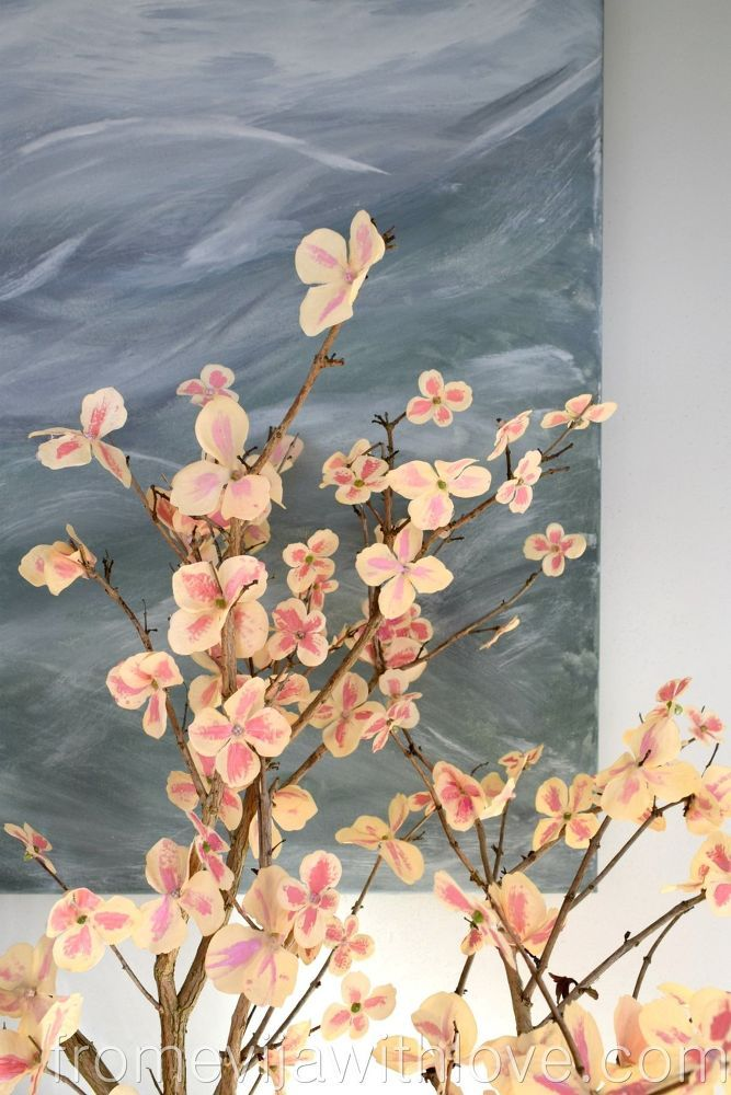 Quick And Easy And Cheap Way To Create Cherry Blossom Tree Blossom Trees Cherry Blossom Tree Flower Arrangements Simple