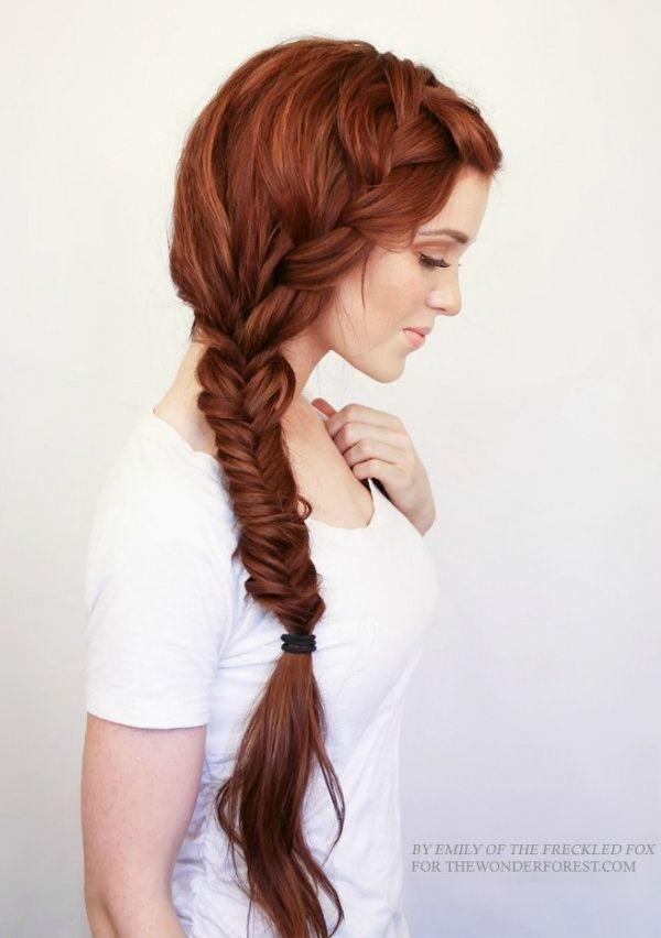 Французская боковая коса: Схемы и инструкции