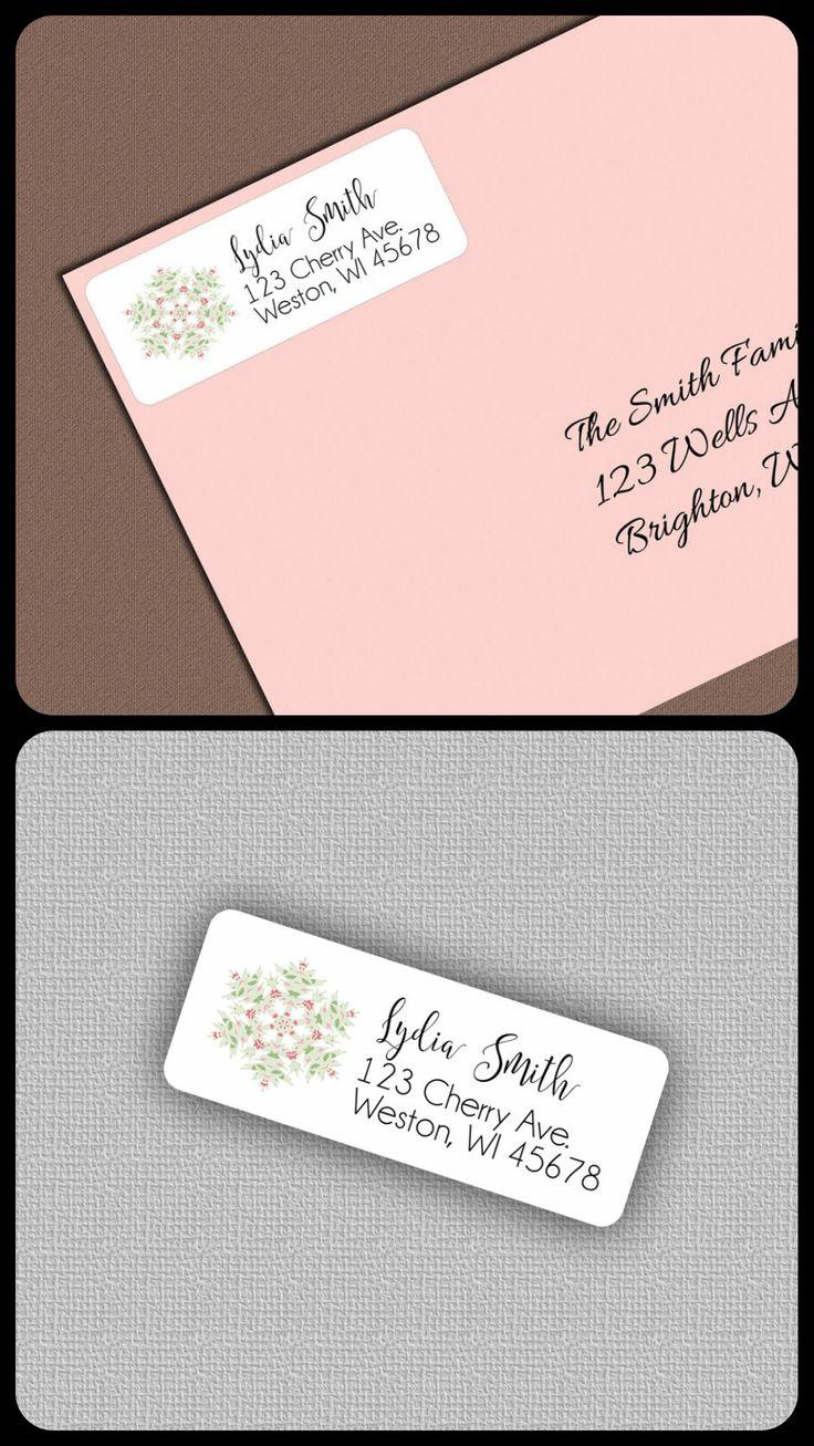 $5.25 1 sheet of Address Labels -- Return Address Labels, Address Stickers, Personalized Return Address Label Sticker, Snowflake Christmas Address Labels, Custom Gift Tags