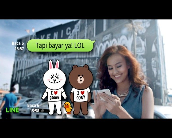 "http://www.techinasia.com/line-ad-stars-indonesia/ | ""It's a fierce battlefield for chat apps in Indonesia. Today, Japan-based Line is going to roll out new ads featuring Indonesian celebrities Agnes Monica and pop group Nidji on TV in Indonesia"". 