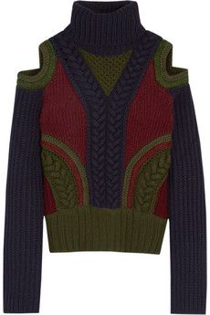 Alexander McQueen Cutout wool-blend turtleneck sweater | NET-A-PORTER