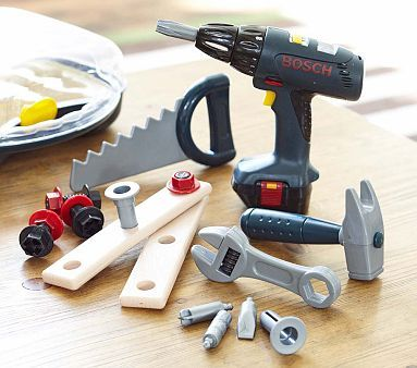 Im getting this for my son for X-mas-Bosch Tools Set #PotteryBarnKids