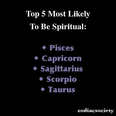 Zodiac Signs: Top 5 Most Likely To Be Spiritual