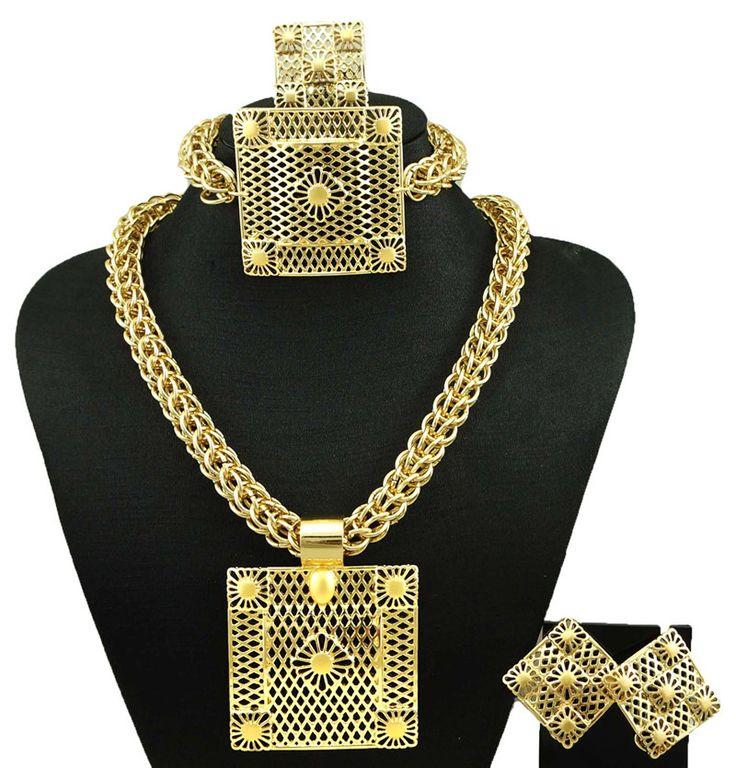 dubai gold plated jewelry fine jewelry sets women fashion necklace fine jewelry sets women necklace18k  jewelry sets