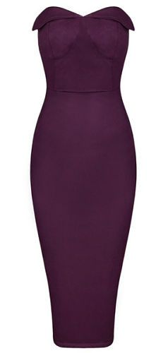 very sexy, elegant, body-con fit, length above knee, side zipper, strapless Material- Suedette Color - Purple Size - X-Small, Small, Medium, Large ( email us if size and color is not available) * Dry