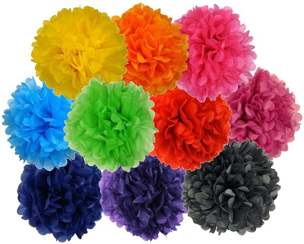 Just Artifacts is the leading supplier of tissue paper pom poms online. We have regular and patterned pom poms in a variety of colors. Order online today!