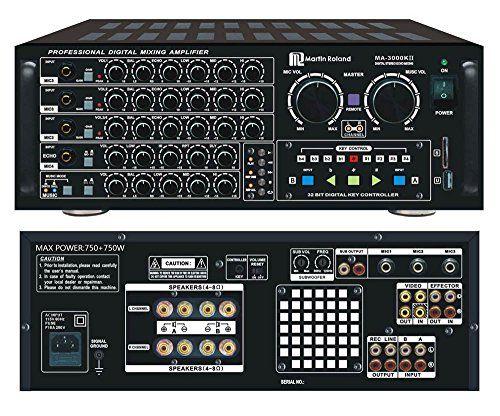 MA-3000KII 750W Karaoke Mixing Amplifier  http://www.instrumentssale.com/ma-3000kii-750w-karaoke-mixing-amplifier/