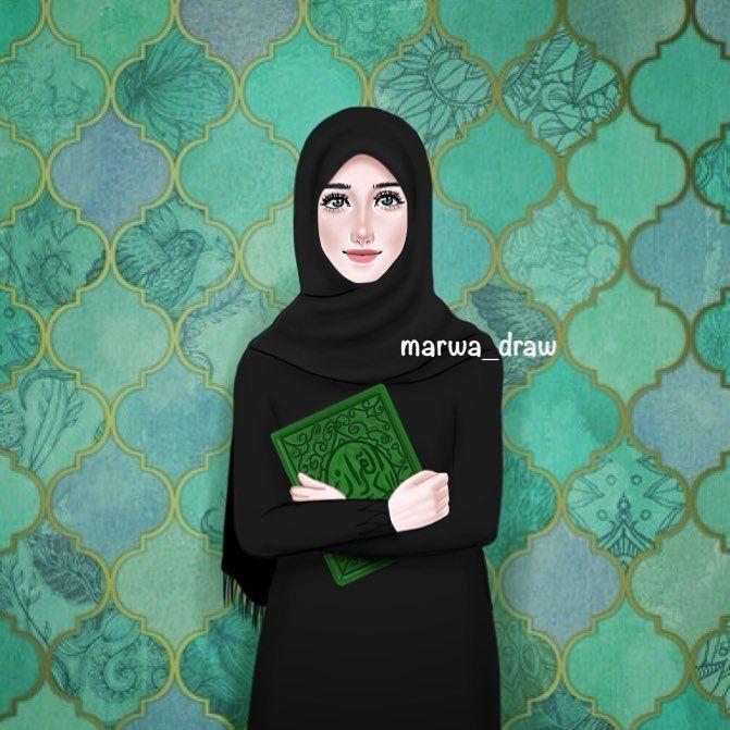 صور رسم بنات كرتون رمزيات رسومات انمي للانستقرام Hijab Drawing Cute Girl Wallpaper Islamic Girl