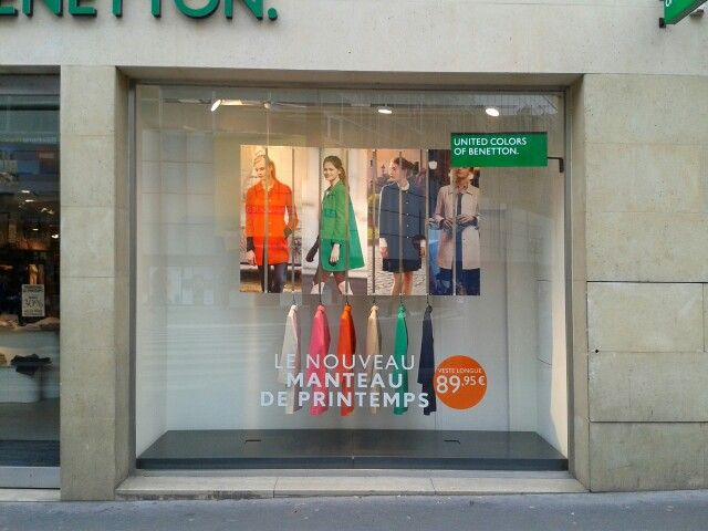 colorama benetton vitrine visuel merchandising en 2019