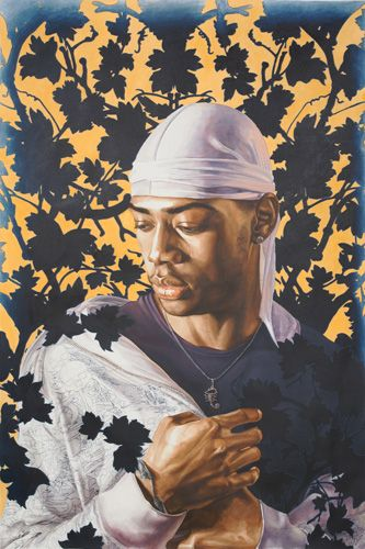 Kehinde Wiley- Tomb of Pope AlexanderVII Study I