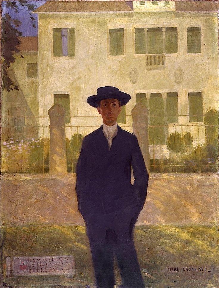 FELICE CASORATI (1883-1963), Ritratto di Camillo Luigi Bellisai, 1906